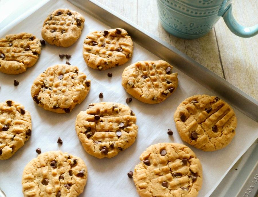 Flourless Peanut Butter Chocolate ChipCookies